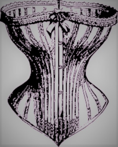 An old-fashioned corset